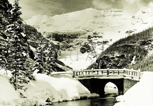 Bruno Engler - Bruno Engler - Stone Bridge at Lake Louise