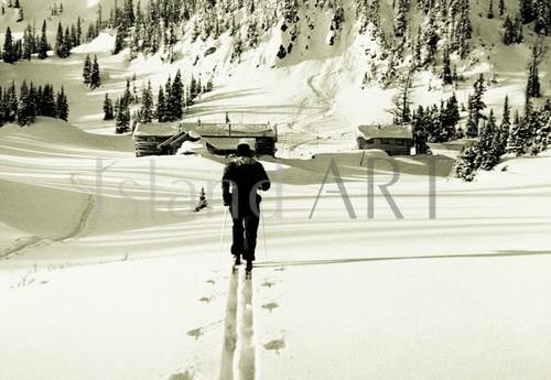 Bruno Engler - Bruno Engler - Sunshine Ski Area in 1939