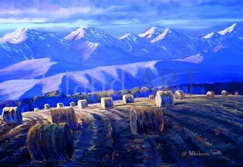 Mark Hobson - Mark Hobson - Hay Bales at Sunrise