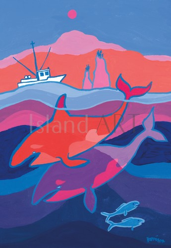Ted Harrison - Ted Harrison - Northwest Coast Whales